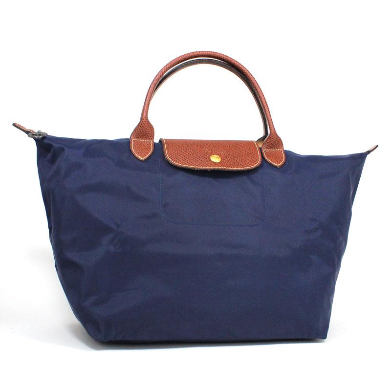 ロンシャン LONG CHAMP ハンドバッグ M ル・プリアージュ ミディアムサイズ ネイビー ブルー Le Pliage Hand Bag Medium Navy L1623 089 556