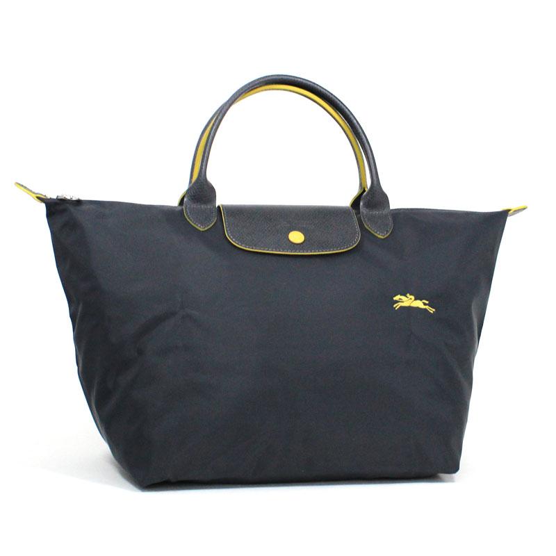 ロンシャン LONG CHAMP ハンドバッグ M ミディアムサイズ ル・プリアージュ クラブ ガンメタル グレー Le Pliage Club Hand Bag Medium Gunmetal L1623 619 300