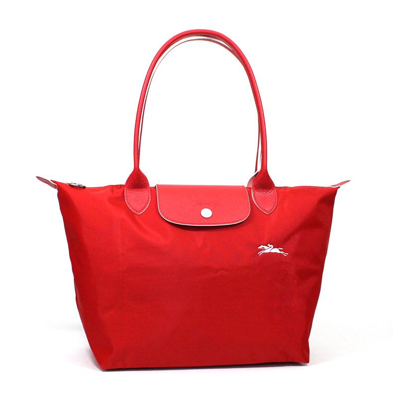 ロンシャン LONG CHAMP トートバッグ S スモールサイズ ル・プリアージュ クラブ ヴァーミリオン レッド 朱色 Le Pliage Club Tote Bag Small Vermillon L2605 619 P20