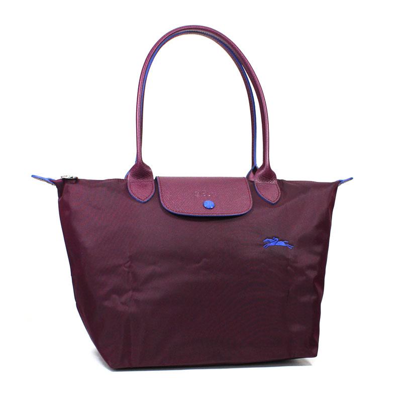 ロンシャン LONG CHAMP トートバッグ S スモールサイズ ル・プリアージュ クラブ プルーン パープル 紫 Le Pliage Club Tote Bag Small Prune L2605 619 P22