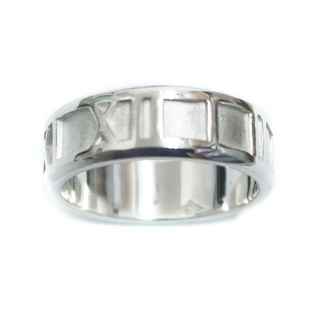 【中古】TIFFANY&Co. ティファニー アトラス リング・指輪 レディース 8.5号 SV シルバー925 アクセサリー 【新品仕上げ済み】
