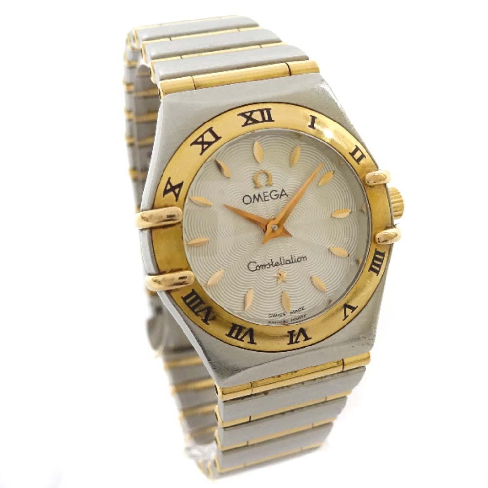 【中古】OMEGA オメガ コンステレーション コンビ 腕時計 レディース クオーツ シルバー ゴールド