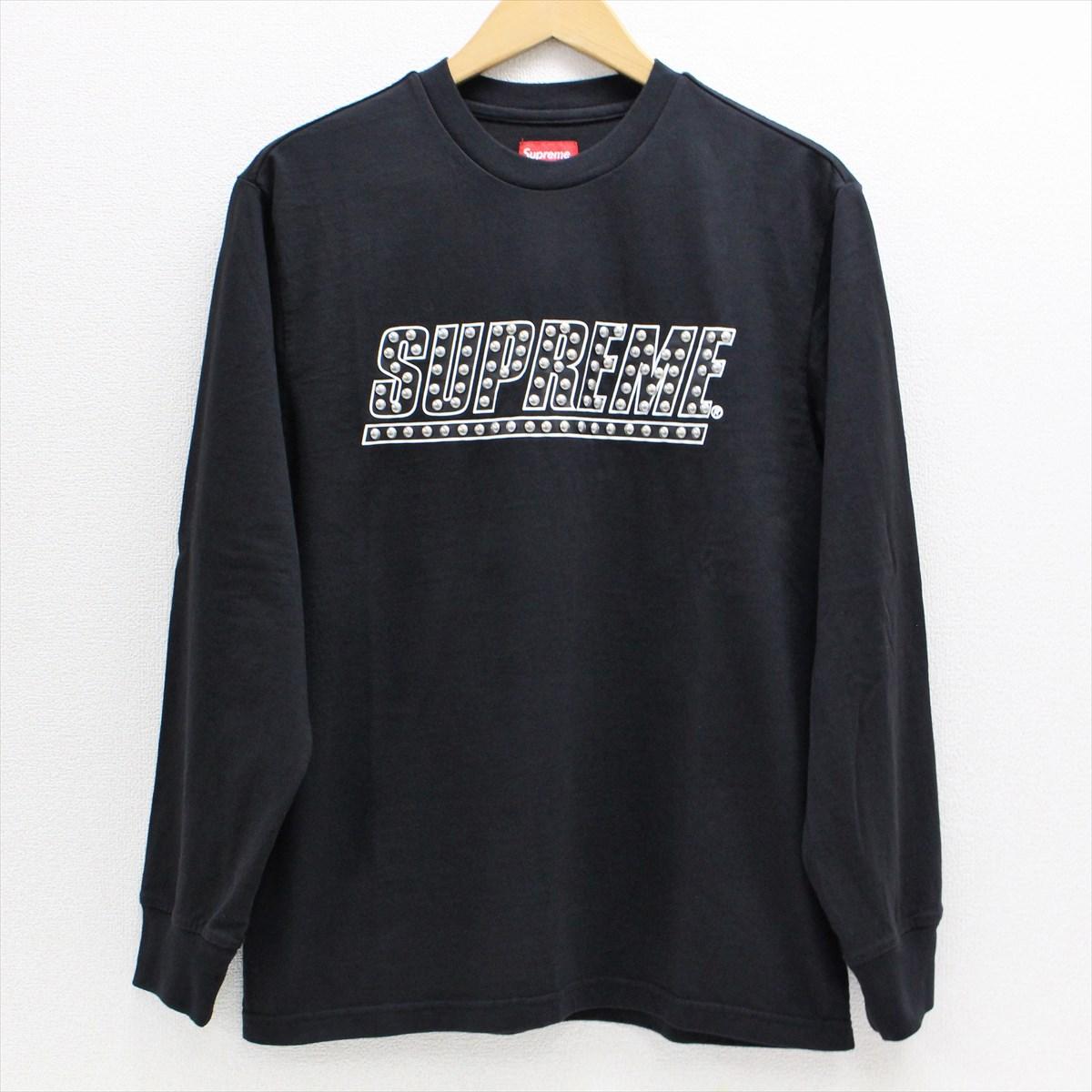 【未使用】 Supreme シュプリーム 20SS Studded L/S Top スタッズ 長袖Tシャツ S ブラック 【中古】 赤坂店 A20-530