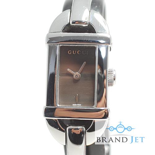 グッチ/6800L レディース 腕時計/ブラック文字盤/電池交換・ライトポリッシュ済み【中古】