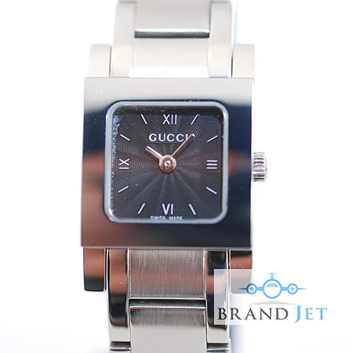 グッチ/7900P レディース 腕時計/ブラック文字盤/動作確認・ライトポリッシュ済み【中古】