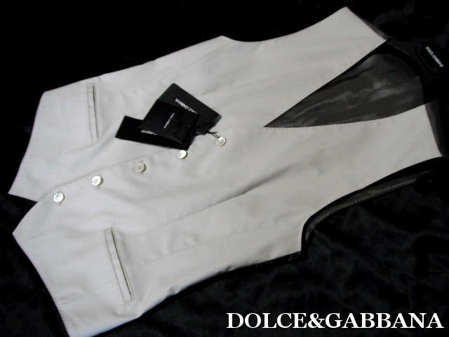 DOLCE&GABBANA ドルチェ&ガッバーナ ジレ ベスト メンズ ドルガバ【未使用】【中古】【新品】