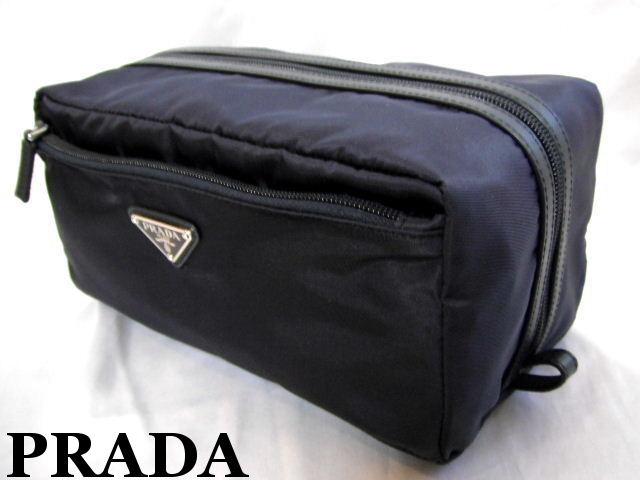 PRADA プラダ セカンドバッグ メンズ ポーチ ネイビー【未使用】【中古】【新品】
