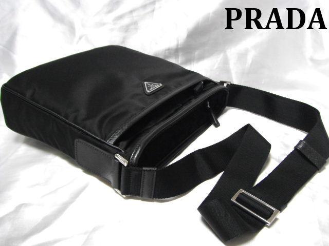 【新品】PRADA プラダ ショルダーバッグ 斜め掛け鞄 ブラック 2VH797 064 F0002 メンズ レディース【新品】【未使用】【中古】
