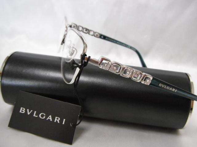 BVLGARI ブルガリ メガネフレーム ハーフリム 眼鏡 めがね ダテメガネ 度付レンズに交換可能 レディース 老眼鏡【未使用】【中古】【新品】
