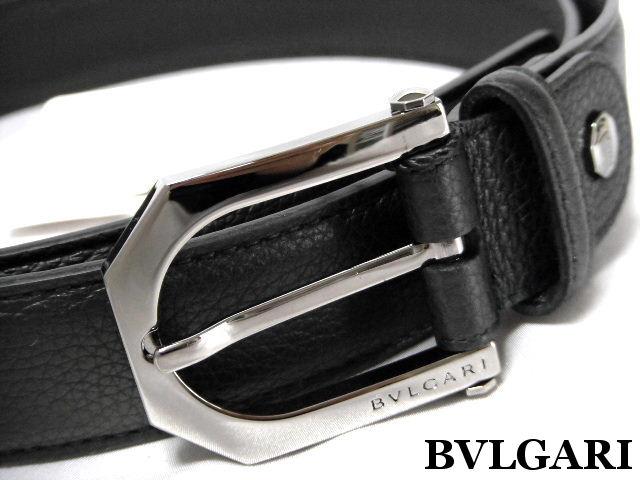 BVLGARI ブルガリ ベルト ブラック レザー ピンバックル【未使用】【中古】【新品】
