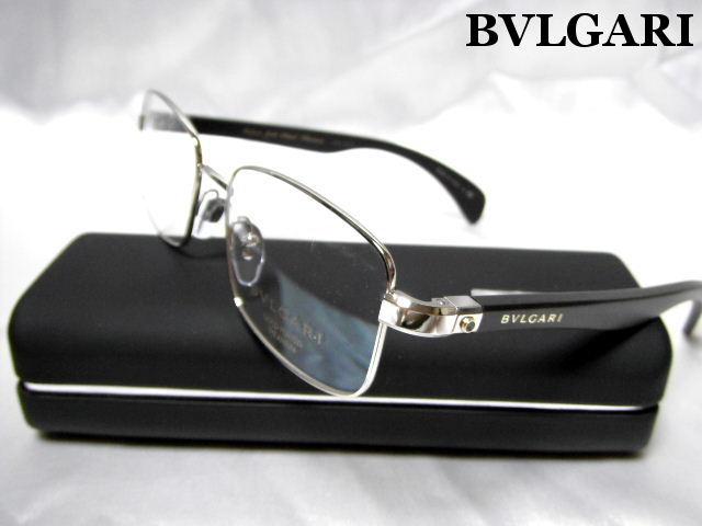 BVLGARI ブルガリ メガネフレーム チタン 眼鏡 めがね ダテメガネ 度付レンズに交換可能 メンズ 老眼鏡 【未使用】【中古】【新品】