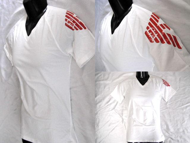 【新品 国内正規品】EMPORIO ARMANI エンポリオ・アルマーニ Tシャツ ビッグロゴ イーグル メンズ ホワイト S【未使用】【中古】【新品】
