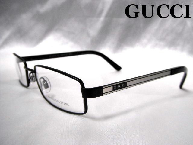 GUCCI メガネフレーム グッチ 眼鏡 めがね ブラック メタル メンズ レディース 老眼鏡【未使用】【中古】【新品】