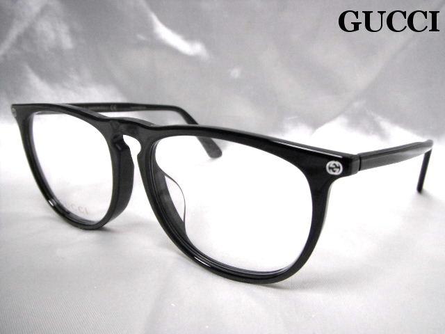 GUCCI グッチ メガネフレーム 眼鏡 めがね 伊達メガネ メンズ ブラック ウエリントン 老眼鏡 GG0120OA 001 ASI【新品】【未使用】【中古】
