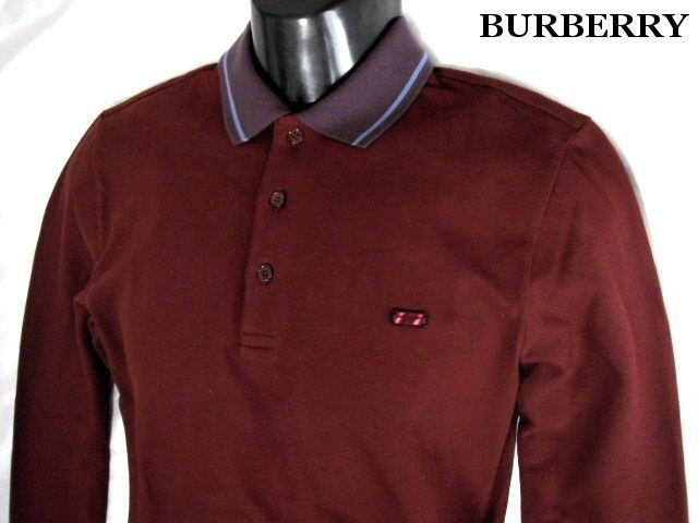 BURBERRY LONDON バーバリー ロンドン ポロシャツ ロゴプレート 襟ライン メンズ 長袖【未使用】【中古】【新品】