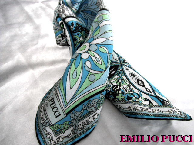 EMILIO PUCCI エミリオプッチ シルク スカーフ 【未使用】【中古】【新品】