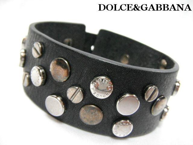 DOLCE&GABBANAドルチェ&ガッバーナ レザー ブレスレット ブラック【未使用】【中古】【新品】