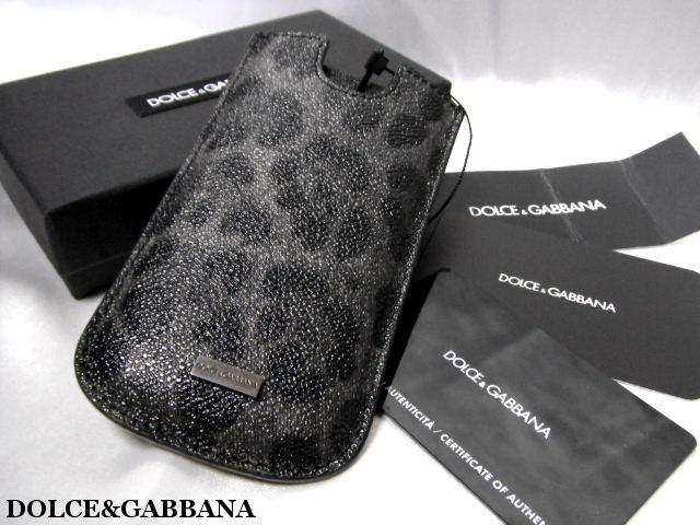 DOLCE&GABBANA ドルチェ&ガッバーナ iPhoneケース SE 5 5S 5G スマホケース グレーレオパード柄【未使用】【中古】【新品】
