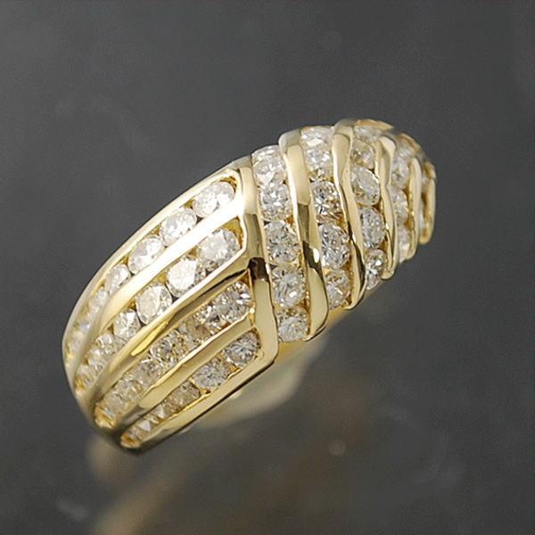 送料無料 本物 豪華 信頼 ダイヤモンドリング 指輪 K18イエローゴールド 16号 レディース 予約販売品 ダイヤモンド1.91ct 美品 463-52M おしゃれ