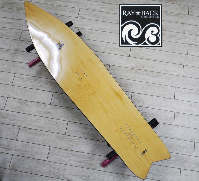 05P26Mar16『RAY BACK/レイバック』SNOWSURFING/スノーサーフィン 『FINKEEL 152・フィンキール 152cm』カラー : Natural.Cスノーボードが誕生した目的に回帰し完成したFINKEEL特典POWCANTとHOTWAX&ダリングサービス!