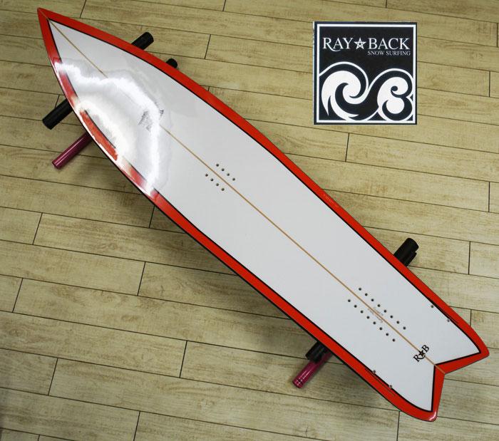 05P26Mar16『RAY BACK/レイバック』SNOWSURFING/スノーサーフィン 『FINKEEL 152・フィンキール 152cm』カラー :WHITEスノーボードが誕生した目的に回帰し完成したFINKEEL特典POWCANTとHOTWAX&ダリングサービス!