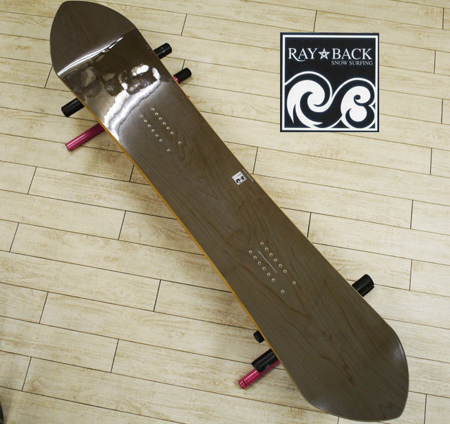 05P26Mar16『RAY BACK/レイバック』SNOWSURFING/スノーサーフィン 『RAY 157,5・レイ157,5cm』カラー :Natural.Aパウダーボードの新しいスタイル特典POWCANTとHOTWAX&ダリングサービス!