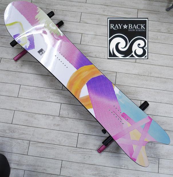 05P26Mar16『RAY BACK/レイバック』SNOWSURFING/スノーサーフィン 『SWORDFISH 4'10・スワードフィッシュ147,5cm』カラー :Pink star絶対的パウダーボード特典POWCANTとHOTWAX&ダリングサービス!