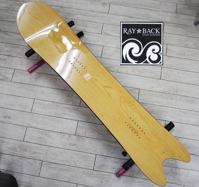 05P26Mar16『RAY BACK/レイバック』SNOWSURFING/スノーサーフィン 『SWORDFISH 4'10・スワードフィッシュ147,5cm』カラー :Natural.C絶対的パウダーボード特典POWCANTとHOTWAX&ダリングサービス!