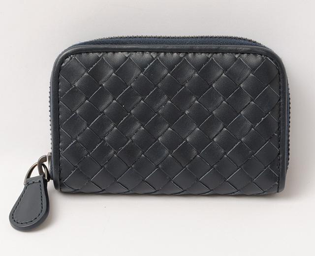 07ea9048a1c78 Bottega Veneta coin purse / card case. BOTTEGA VENETA calf Dark Navy 114075  ボッテガ・ヴェネタ 携帯ストラップ 新品