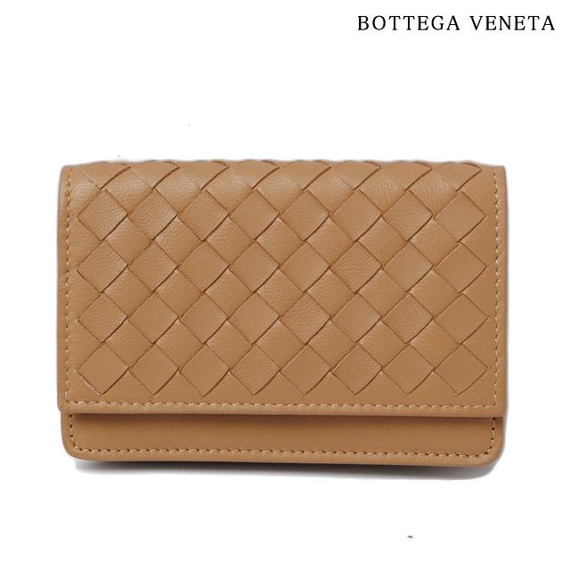 ボッテガ ヴェネタ カードケース/コインケース BOTTEGA VENETA ナッパ イントレチャート キャメル 133945 V001U 2640