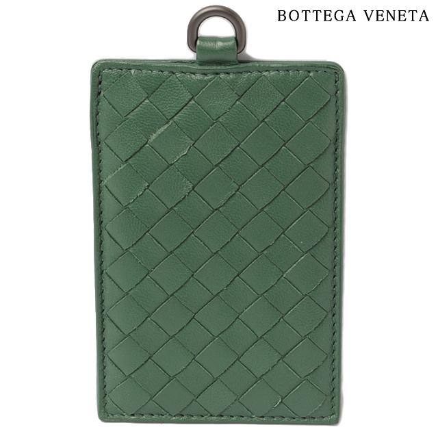 ボッテガヴェネタ 패스 케이스/ID 홀더 BOTTEGA VENETA 인 트 차트 납 파 다크 그린 169722