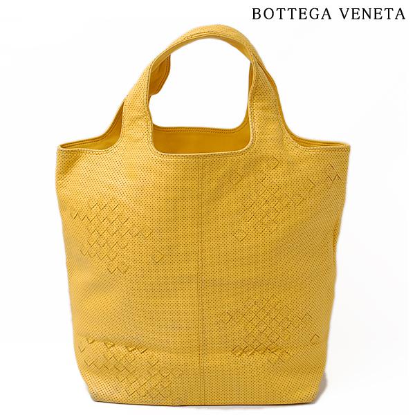 ボッテガ ヴェネタ BOTTEGA VENETA トートバッグ/ハンドバッグ 131673 V1330 7100 パンチング マスタード【中古】
