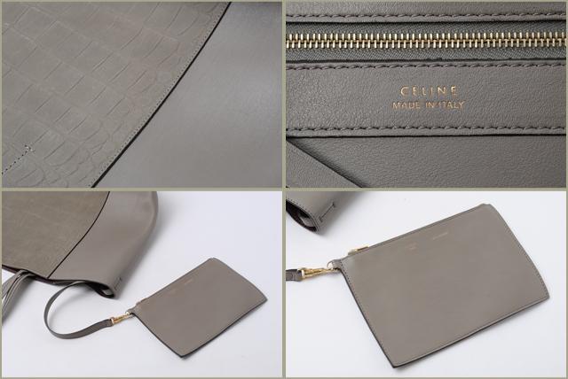 celine phantom gray t124  Celine CELINE tote bag cover Fantom for Cabas phantom Croco Embossed calf  light grey