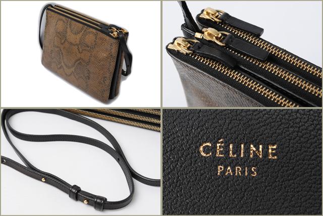 bbd303ffce Import shop P.I.T.  Celine CELINE shoulder bag   clutch bag Python ...