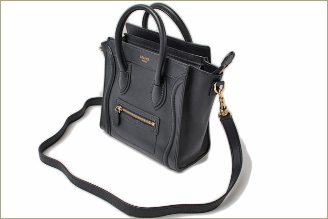 e61b634e9e Celine handbags CELINE Nano shopper luggage Dark Navy 168243 strap with  2-way