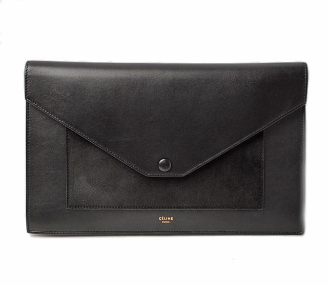 Celine Evening Clutch Bag Calf Leather 104333xah 38no Black セリーヌ ショルダーバッグ レザー ブラウン