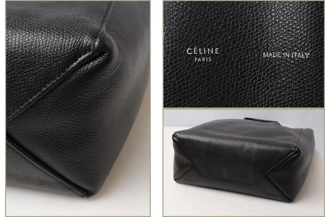 f6a699826cd3 ... brand new 54052 d2429 Celine Tote shoulder bag 2 way CELINE Cabas SMALL  VERTICAL leather Black ...