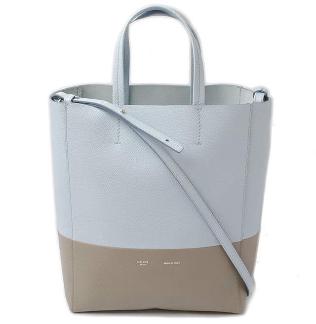 74e39a582b0e Celine tote bag 2-way. CELINE Cabas  SMALL VERTICAL leather Pearl blue    gray 176163 セリーヌ CELINE ショルダーバッグ レザー ブラウン