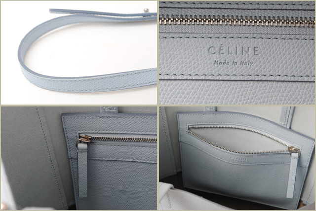 756dc656845d Celine tote bag 2-way unused CELINE Cabas  SMALL VERTICAL leather Pearl  blue   gray 176163