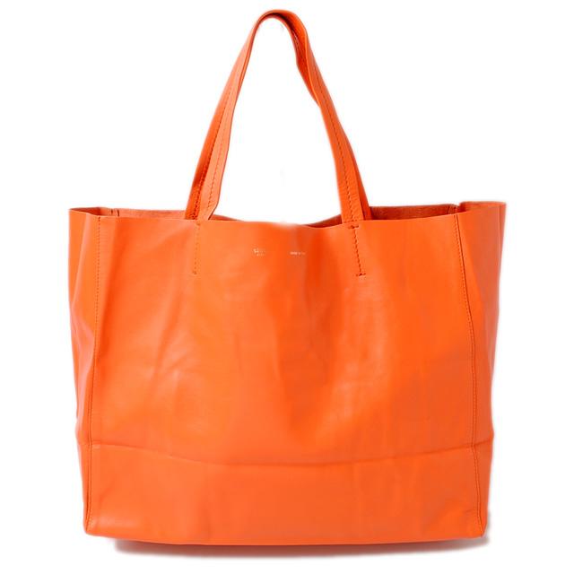 40cc6cb67a69 Tote bag HORIZONTAL CABAS  ホリゾンタルカバス 166113 orange セリーヌ CELINE ショルダーバッグ  レザー ブラウン