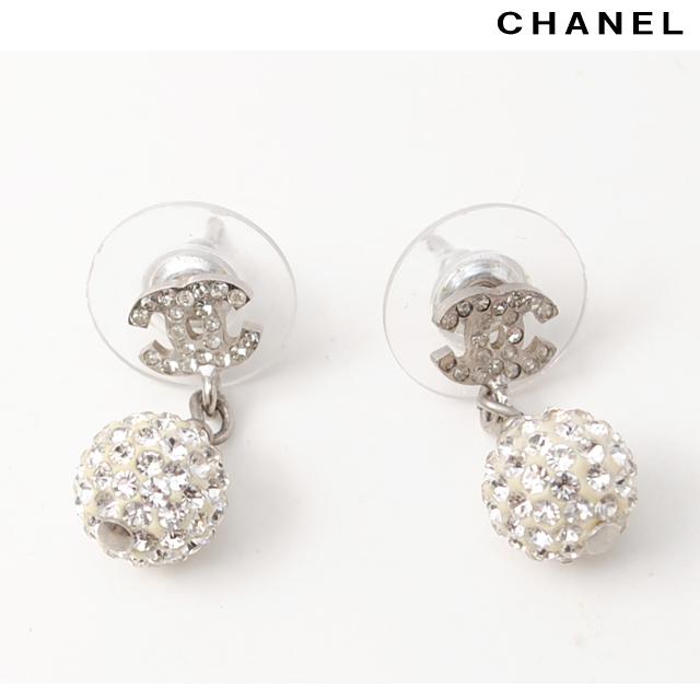 Chanel シャネル ピアス Ccマーク ブラック シルバー