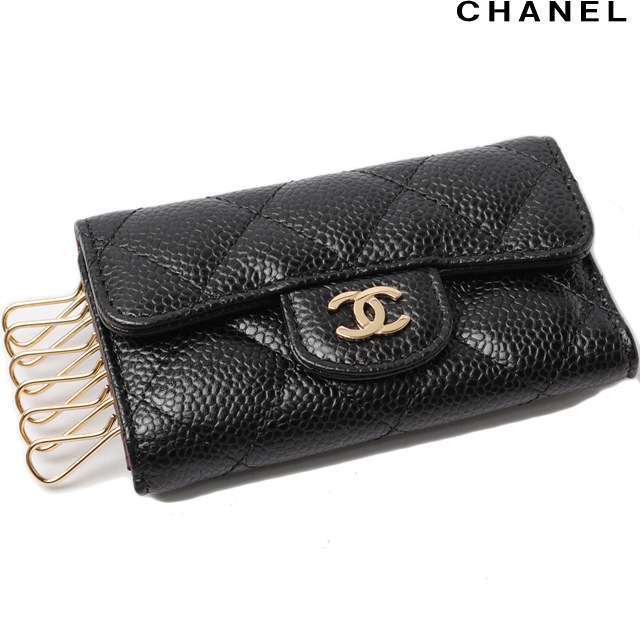 a830904c741f Chanel key case. CHANEL 6 matelasse caviar skin black / Bordeaux A31503  シャネル CHANEL 折財布