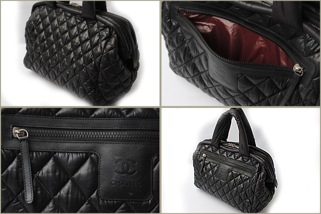d838ce371d7f CHANEL CHANEL mini-Boston bag here cocoon  COCO COCOON nylon quilting black    Bordeaux A47205