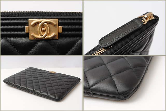 b34ad7be8a23 Import shop P.I.T.: Chanel silk and flat pouch CHANEL boy channel ...