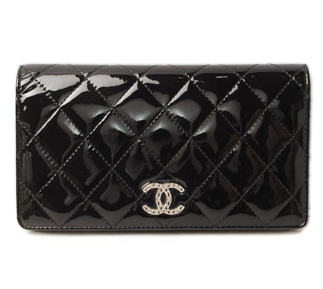 64e47ce12a4c48 Long wallet A48691 brilliant patent leather black シャネル CHANEL 財布