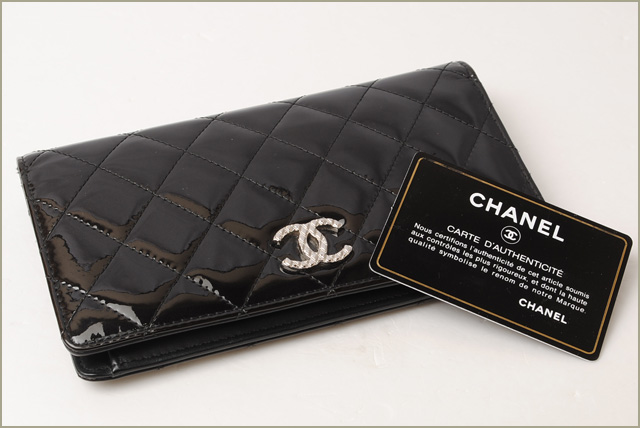eaef8e2a Chanel wallet CHANEL long wallet A48691 brilliant patent leather black