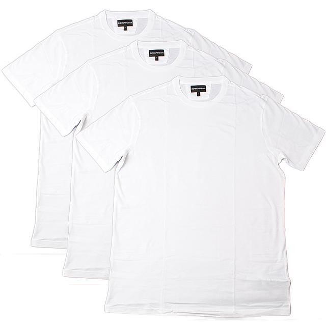 エンポリオ アルマーニ 半袖Tシャツ 3枚セット EMPORIO ARMANI メンズ アンダーウェア クルーネック ホワイト 3Y1DA1 1JCRZ 0100 ギフト プレゼント新生活