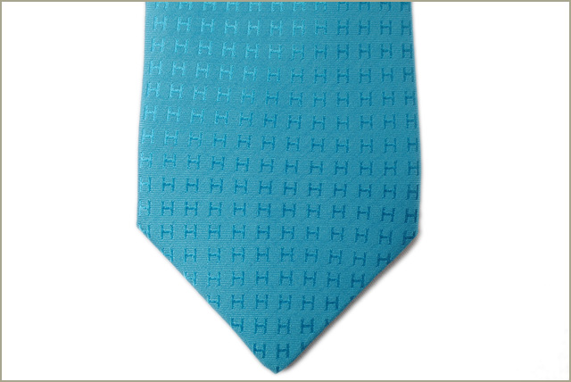 15a874a98834 ... 100% of Hermes tie HERMES 030189T TURQUOISE/ turquoise silk is unused  ...