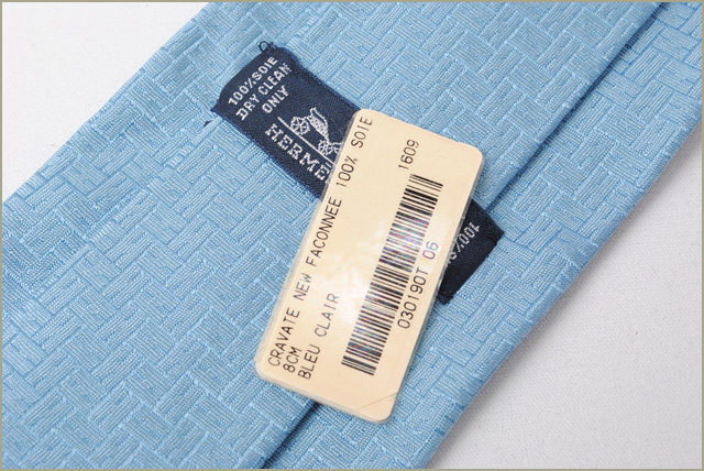 14279fad715c Hermes tie HERMES 100% of 030190T BLUE CLAIR/ blue system silk エルメス エルメス  エルメス エルメス エルメス