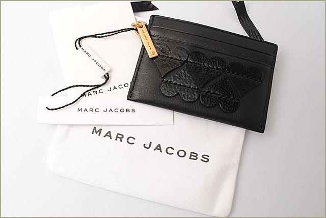 マークジェイコブス カードケース 名刺入れ MARC JACOBS STITCHED HEARTS ステッチ ハート ブラック M0010606 ギフト プレゼントvf7gybm6YI